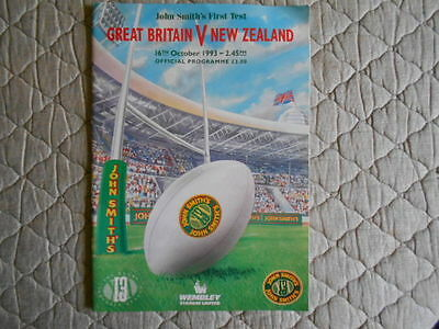Great Britain V New Zealand Rugby League 1St Test Match Programme 1993