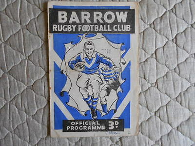 1960/61 Barrow V Oldham Rugby League Match Programme