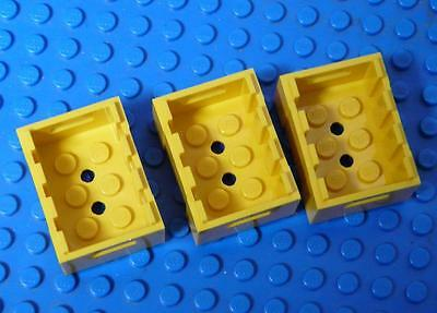 LEGO Minifig Container Cupboard 2x2x4 Yellow Assorted x3PC