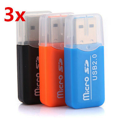 3 x High Speed Mini USB 2.0 Micro SD TF T-Flash Card Reader Kartenleser Adapter