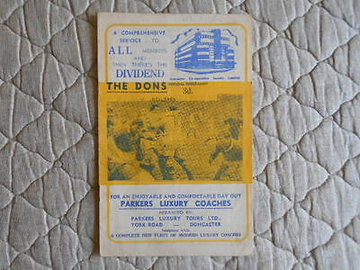 1962/63 Doncaster V Keighley Rugby League Division 2 Match Programme
