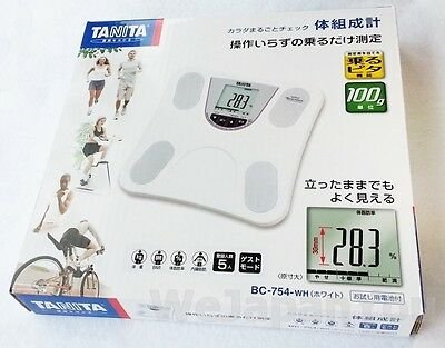 TANITA Body Composition Meter white BC-754-WH weight scale from Japan + Tracking