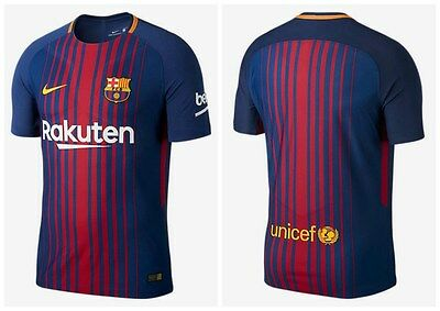 Barcelona New 2017 2018 Shirt Football Soccer Jersey Messi Neymar Suarez Iniesta