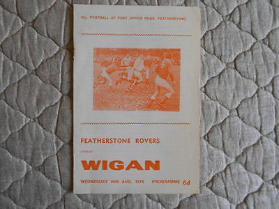 1970/71 Featherstone Rovers V Wigan Rugby League Match Programme