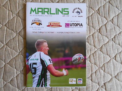 Milford Marlins V Barrow Challenge Cup 3Rd Round Match Programme 2014