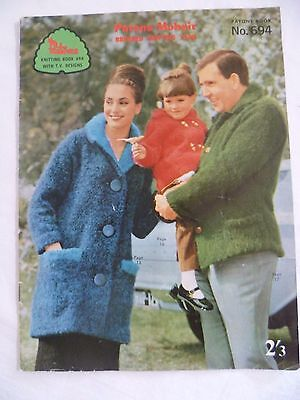 1960's Vintage Patons Mohair Knitting Patterns Book No 694