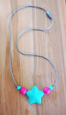Silicone formerely Teething Necklace Mum Chew Beads BPA Free Autism ADHD Sensory