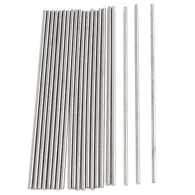 20pcs 50mm x 1mm Silver Tone Stainless Steel Transmission Round Rod R4J9