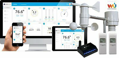 Ambient Weather WS-0900-IP Wireless Internet Remote Monitoring Weather Station,