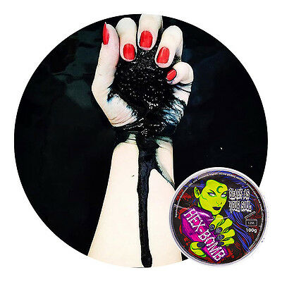 Official Hexbomb Black As Your Soul Bath Bomb 100g - Goth/Alternative Cosmetics