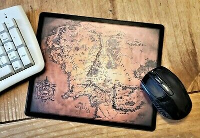 Lord of the Rings Middle Earth map Flexible Mousemat - Mouse Mat Pad PC Computer