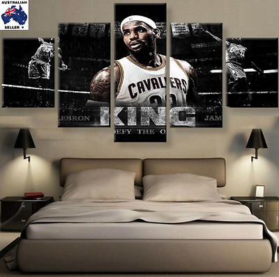 Lebron James Decor Oil Canvas Wall Art Picture Landscape (5piece)