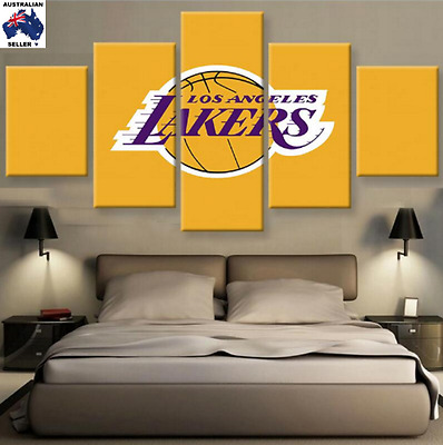 LA LAKERS Decor Oil Canvas Wall Art Picture Landscape (5piece)
