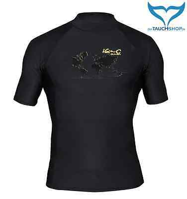 iQ-Company UV 300 Shirt Slim Fit Men Herren XXL black schwarz Watersport Ocean
