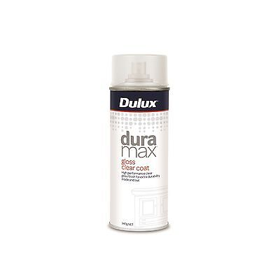 Dulux DURAMAX CLEAR COAT Spray Paint Non-Yellowing UV Proof GLOSS, 340g