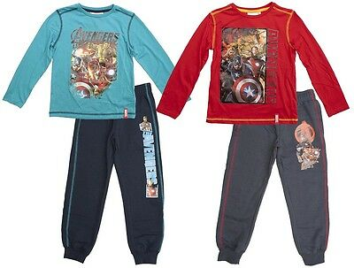 Boys Top Jog Bottoms T-Shirt Avengers Marvel Long Sleeve Outfit 4 to 10 Years