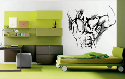 Wall Decal Room Sticker Bedroom Man body muscles sexy chest work out gym bo2954