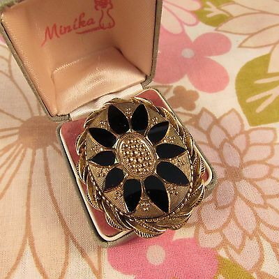 Vintage Victorian Style Mourning Brooch Pin