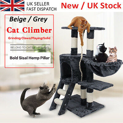 Cat Kitten Tree Tower Toy Condo Furniture Scratch Post Pet House Play 2 Colours
