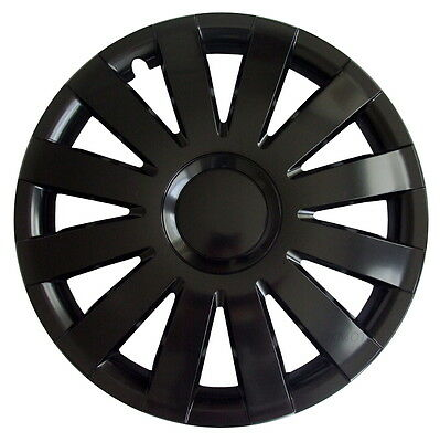 """4 x14"""" Wheel trims fit Volkswagen Polo Golf Lupo  14'' black hub caps covers"""