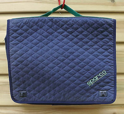 Sparco Blue Quilted Nylon Retro Rally Co-Driver Navigator Sports Bag