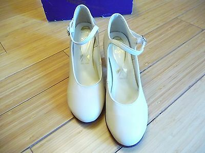 """Freed of London-The New Yorker"" NEW- DANCE Shoes!-Beige Leather!  SZ 4"