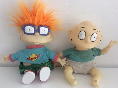 Tommy Pickles & Chuckie Finster Rugrats Plush Dolls Vintage 1993 Nickelodeon 11""