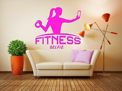 Wall Decal Room Sticker Bedroom Fitness Sport Crossfit Gym Workout Body bo2946