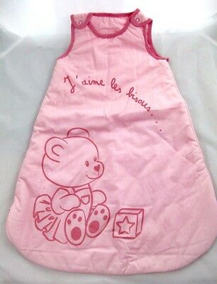 Gigoteuse / Turbullette Nid D'ange / Couverture Bebe Fille 6/24 Mois Rose