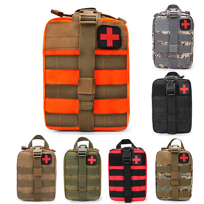 Molle Outdoor Travel Tactical Emergency Medical First Aid Kit Bag Survival Pack