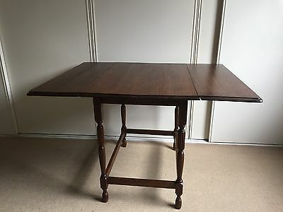 Antique vintage table wooden 2 seater or fold out to 4 seater