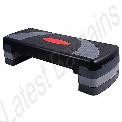 Fitness Exercise 3 Level Aerobic Step Bench Home Gym Workout Cardio Training