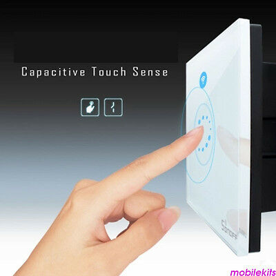 1 Gang 1 Way SONOFF TOUCH Panel Wall Switch Controller LED Light 250V-2A