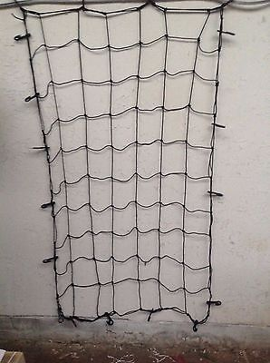 Large 18 hook elasticated cargo net bungee tie down for car roof rack trailor
