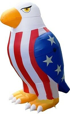 8 ft Patriotic 4th of july Uncle sam's eagle airblown inflatable memorial decor