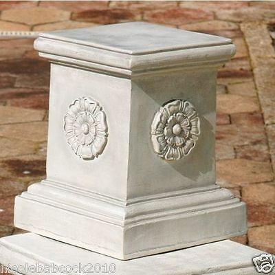 Column Pedestal Plinth English Architectural Antique Style Rossette   Base