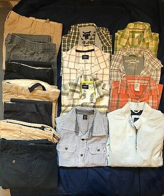 15 Pc Lot Of Boys Sz 5/6 Summer Clothes GAP, CP,  Nautica, Tommy, Carter's, Etc.