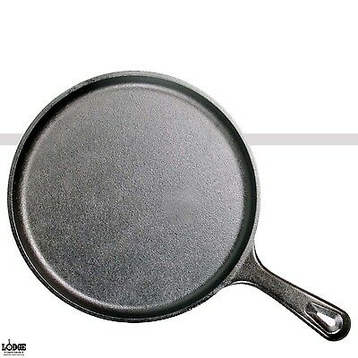 "Lodge Cast Iron Griddle Round Pre-Seasoned Skillet 10.5"" Black Cookware OvenSafe"