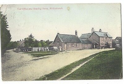 WINTERBORNE WHITECHURCH Dorset, Post Office & Reading Room, Old Postcard 1906