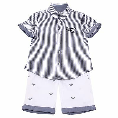 8430S completo bimbo ARMANI JUNIOR set shirt-shorts pant