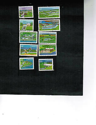 CANADA 1983  FORTS # 1  set 10 / 32c stamps see scan  used  #983 - 992  LOT F451