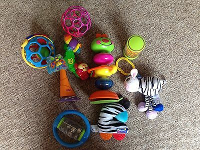 Baby rattle and highchair toys bundle