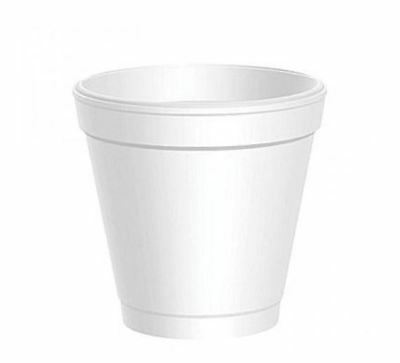 Dart 4J4 Disposable Foam Cup, White, 4 oz (Case of 1000)