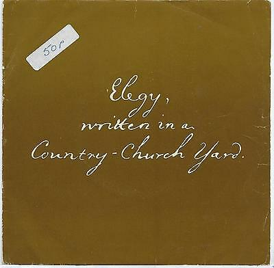 "Michael Burrell - Elegy Written In A Country Churchyard - 7"" Single"