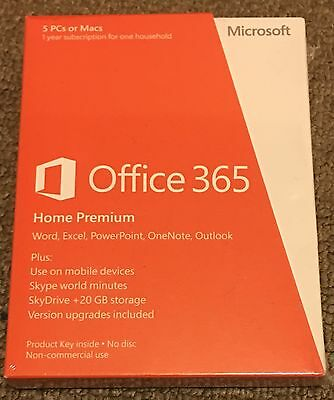 Microsoft Office 365 Home Premium For 5 PCs Or Macs