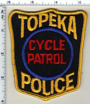 Topeka Police (Kansas) Cycle Patrol Shoulder Patch - new from the early 1980's