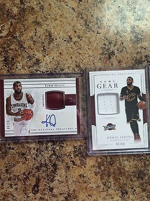 2016-17 National Treasures Kyrie Irving Patch Auto /25 Cavaliers