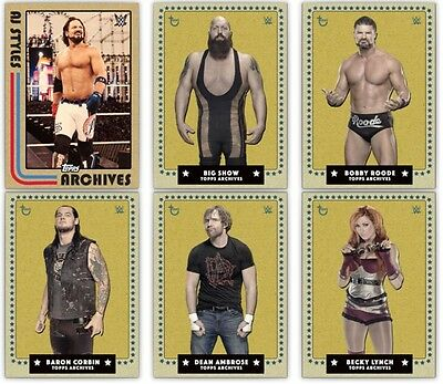 Topps Slam Trader - Topps Archives  Award Ready Set ( YELLOW ) Roode AJ STYLES+