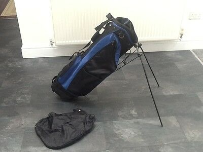 Slazenger Blue/Black Dual Strap and Stand Golf Carry Bag