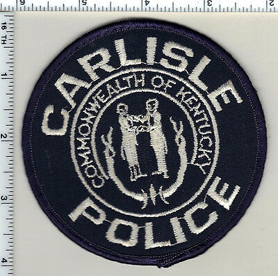 Carlisle Police (Kentucky) uniform take-off patch from 1992